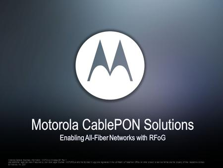Motorola CablePON Solutions