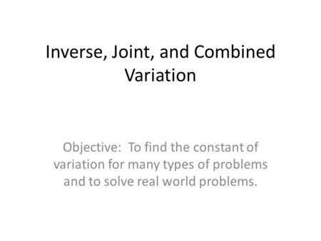Direct Variation and Proportion - ppt video online download