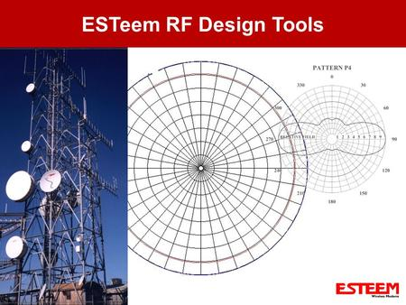 ESTeem RF Design Tools. Presentation Overview Review Radio Basics – Terminology Use Information from Radio Basics and Antenna Sections Use RF Design Program.
