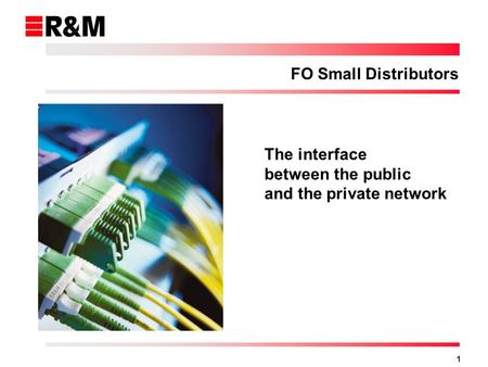 1 FO Small Distributors The interface between the public and the private network.