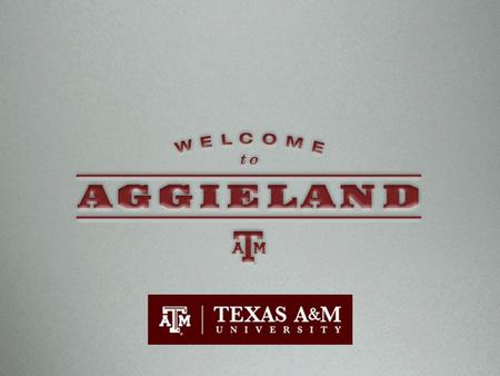 The First, Aggie Spirit Agricultural & Mechanical A&MAggie.