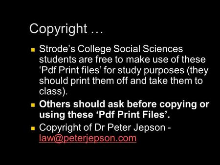 Copyright … Strodes College Social Sciences students are free to make use of thesePdf Print files for study purposes (they should print them off and take.