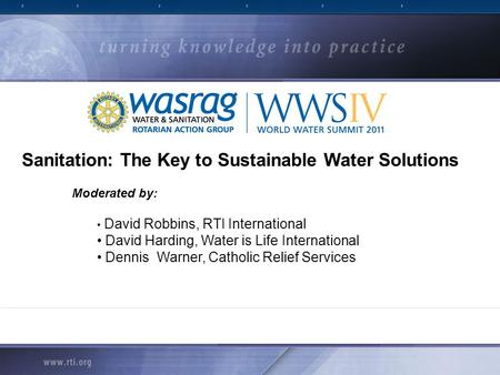 Sanitation: The Key to Sustainable Water Solutions
