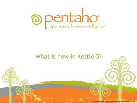 © 2010, Pentaho. All Rights Reserved. www.pentaho.com. What is new in Kettle 5?