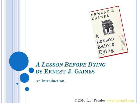 a lesson before dying summary