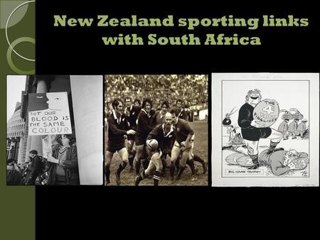 New Zealand sporting links with South Africa