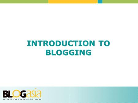 INTRODUCTION TO BLOGGING. WHAT IS A BLOG? Blogs are all about opening up your knowledge, expertise, processes and goals to your customers Blogs are online.