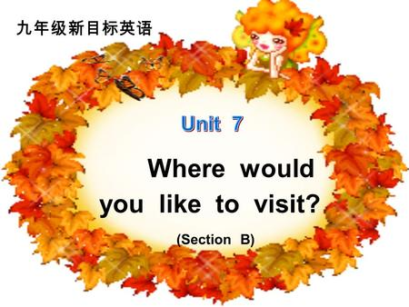 Where would you like to visit? (Section B). If you had enough money, where would you like to go? Id like to ________. 1.Isnt supposed to be very_____?