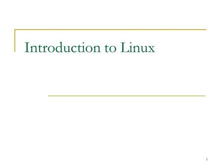 1 Introduction to Linux. 2 History of Linux The Role and Function of Linux The Historical Development of Linux Linux Distributions Common Linux Roles.
