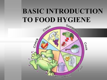 BASIC INTRODUCTION TO FOOD HYGIENE. Whats Wrong? I ate something bad, I have….. Food Poisoning!