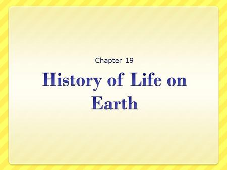 Chapter 19. Section 1: How Did Life Begin? Preview Bellringer Key Ideas The Basic Chemicals of Life Lifes Building Blocks The First Cells Summary.