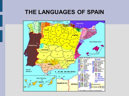 THE LANGUAGES OF SPAIN. In Spain there are four different languages, which are: Castilian Galican Catalan Basque Valencian.