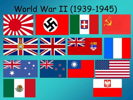 World War II (1939-1945). An Unhappy Ending After Germany was defeated in 1919, the Treaty of Versailles limited German strength –Germanys army was limited.