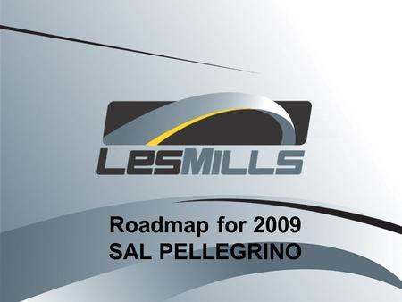 Roadmap for 2009 SAL PELLEGRINO. Roadmap for 2009 1.Review of the Business Plans - Highlights 2.Differentiating Yourself, and Making 2009 your Best.