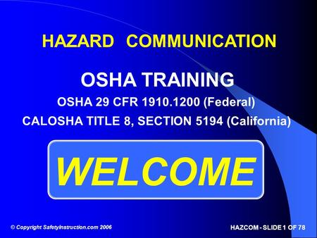 CALOSHA TITLE 8, SECTION 5194 (California)