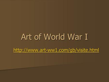 Art of World War I