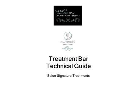 Treatment Bar Technical Guide Salon Signature Treatments.