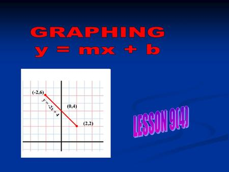 One method of graphing a linear equation is to construct a table of values. Example: Consider the equation y = 2x + 3 xy 1 03 15 27 39 When x = 0, y =