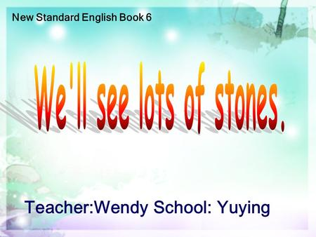 New Standard English Book 6 Teacher:Wendy School: Yuying.