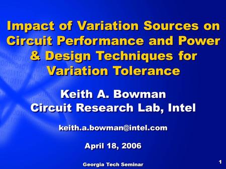 Circuit Research Lab, Intel