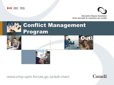 Conflict Management Program Transition Plan Outline.