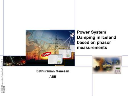 Power System Damping in Iceland based on phasor measurements