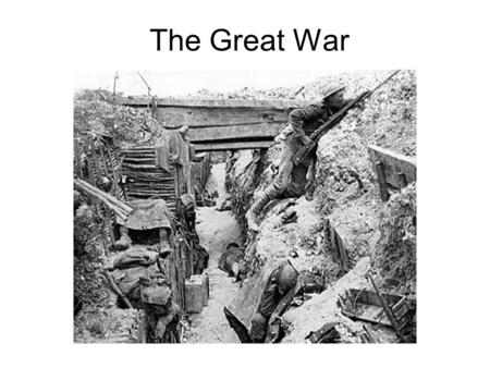 The Great War. Europe in 1914 There were a series of problems in Europe. The countries of Europe were in competition for land, resources and power (arms.