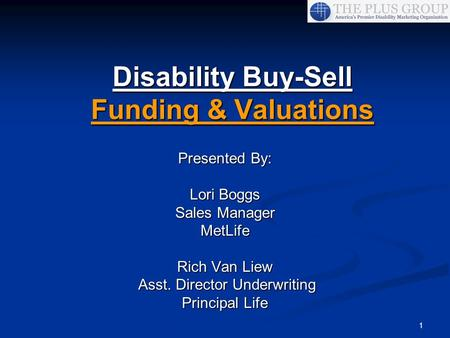 Disability Buy-Sell Funding & Valuations