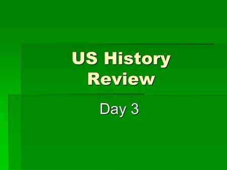 US History Review Day 3 Day 3. Early in the Depression, the Hoover Administration established the Reconstruction Finance Corporation to to banks, insurance.