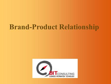 Brand-Product Relationship 2 Introduction product brand line brand range brand umbrella brand source brand (or parent brand) endorsing brand Six types.