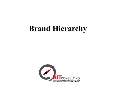 Brand Hierarchy. Managing Brand Systems - Building Strong Brands(1996) David Aaker Brand System Objectives Exploit commonalities to generate synergy Reduce.