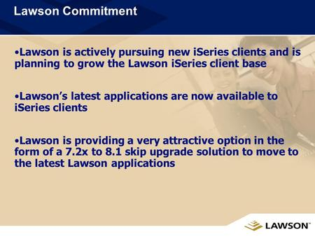 ISeries Skip Upgrade External Sales Presentation September,2005.