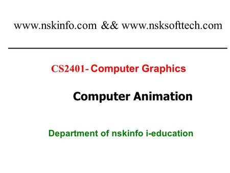 Department of nskinfo i-education