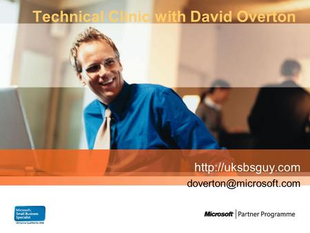 Technical Clinic with David Overton