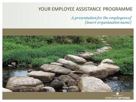 YOUR EMPLOYEE ASSISTANCE PROGRAMME A presentation for the employees of [insert organisation name]