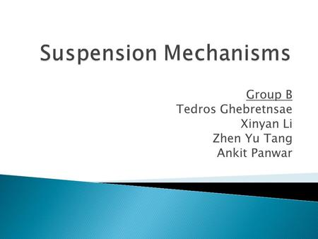 Suspension Mechanisms