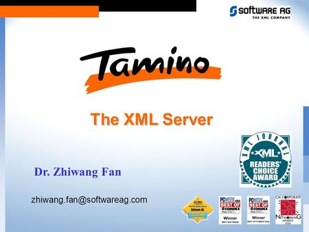 The XML Server Dr. Zhiwang Fan
