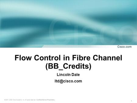 Flow Control in Fibre Channel (BB_Credits)