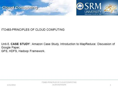 IT0483-PRINCIPLES OF CLOUD COMPUTING ,N.ARIVAZHAGAN