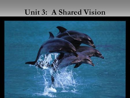 Unit 2: Measuring Leadership (Aitken) Unit 3: A Shared Vision.