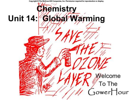 Chemistry Unit 14: Global Warming Welcome To The GowerHour.