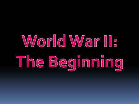 World War II was caused in part by the Versailles Treaty that ended World War I. Why? 1. The Germans were forced to pay a huge amount of money to France.