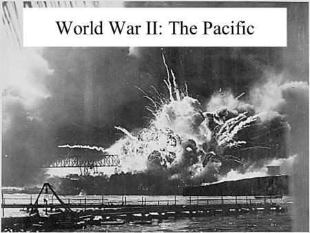 World War II: The Pacific Japan's Ascendancy in Asia and the Pacific War.