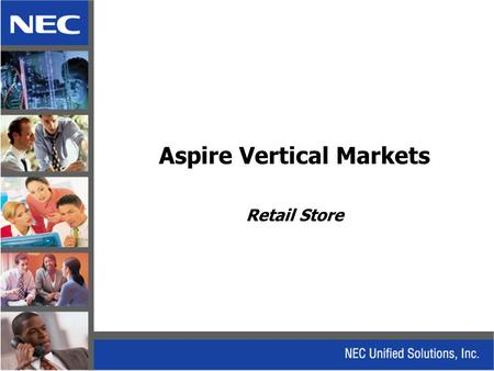 Aspire Vertical Markets Retail Store. Retail Store Solution.