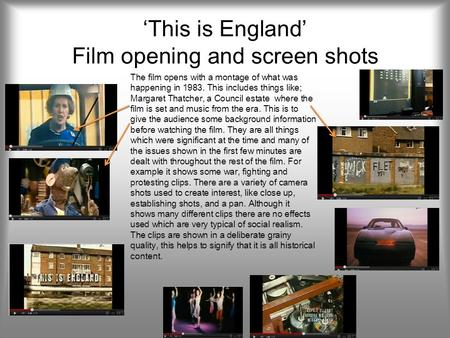 'This is England' Film opening and screen shots