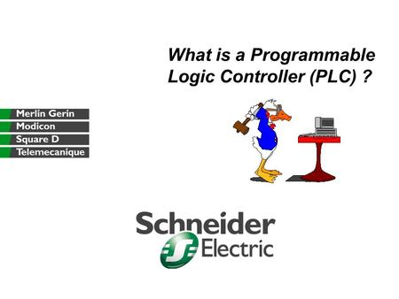What is a Programmable Logic Controller (PLC) ?. What is a PLC presentation.pptFebruary 2003G. Ziegler, Marketing Support Manager 2 Agenda History PLC.