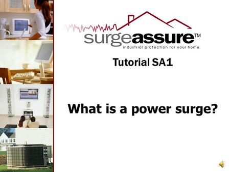 What is a power surge? Tutorial SA1