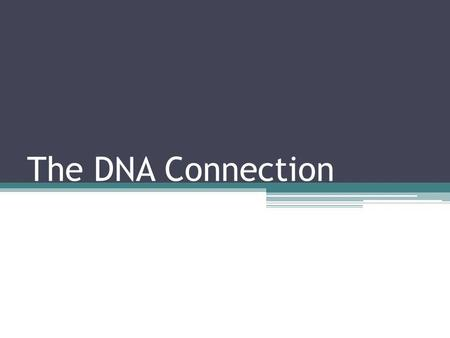 The DNA Connection. Characteristics of DNA Found in all living organisms. The code is made up of genes that are used to make proteins. Proteins determine.