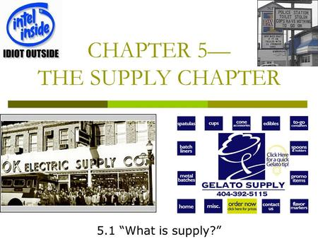 CHAPTER 5 THE SUPPLY CHAPTER 5.1 What is supply?.