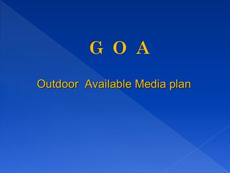 Outdoor Available Media plan. Vadem Slop going to Vasco 22/-+ 4/- mounting - Immediately.
